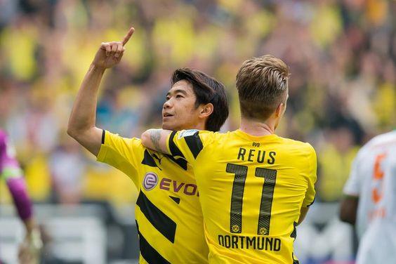 War gegen Werder Bremen groß in Form: Shinji Kagawa, der nicht nur das 1:0 erzielte, sondern auch die beiden weiteren Treffer vorbereitete.