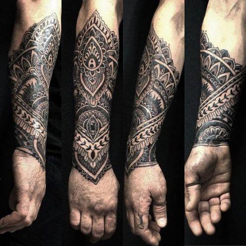 Tatuajes De Mandalas Para Hombres Con Disenos Increibles Tatuajes Mandalas Hombre Tatuajes Brazaletes Hombre Hombres Tatuajes