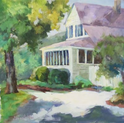 "Landscape Artists International: Original North Carolina Architectural Landscape Painting ""Can't Wait to be There"" by Georgia Artist Deanna Jaugstetter"