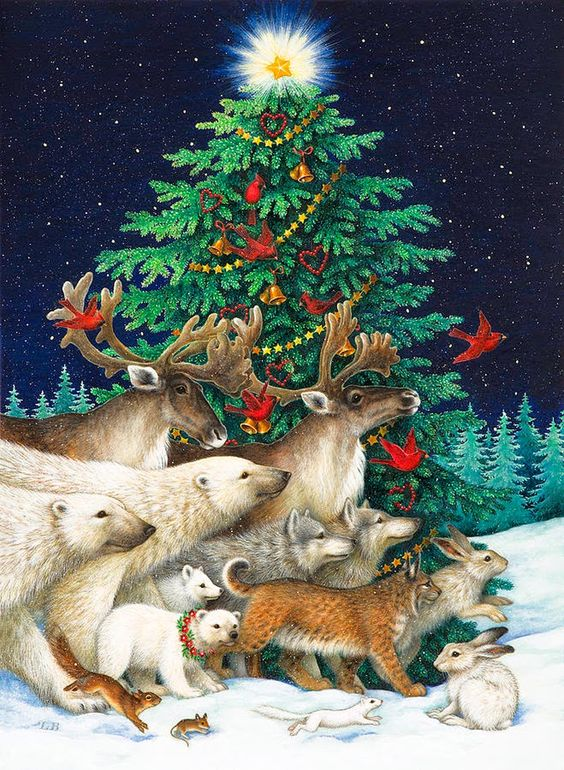 Lynn Bywaters christmas art noel illustration: