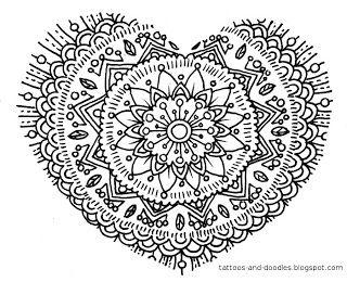 heart tatoo & doodle