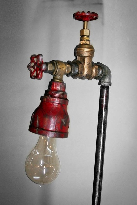 Custom Made Industrial Pipe Floor Lamp Diy Ideas