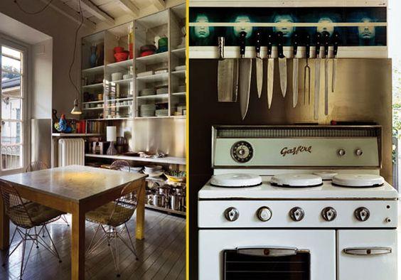 cucina, anche se tutto è a vista, con mobili componibili su disegno ...