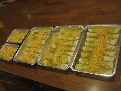 Creamy Green Chicken Enchiladas-Freezer meal