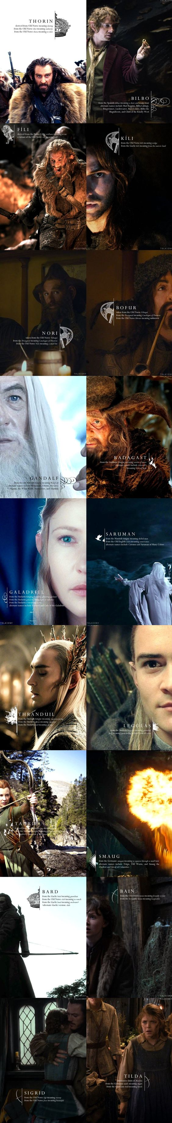 Meanings of Names in The Hobbit. Sigrid, Tilda, and Tauriel shouldn't even be in the hobbit