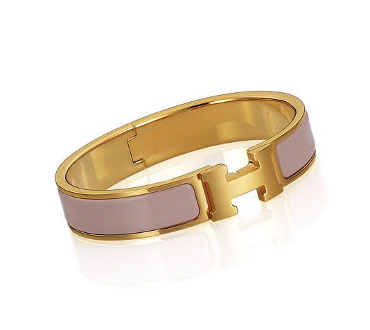 Pink H enamel bracelet, Hermes