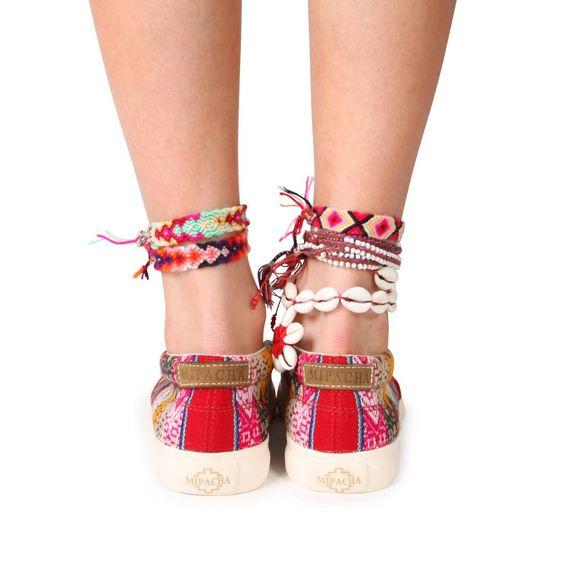 Slipo rojo | MIPACHA Shoes | Spring/Summer 2015 | Handmade in Peru | Festival Shoes