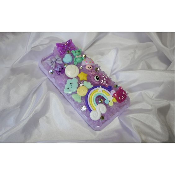 Cosmic Sugar Rush iPhone 6 Decoden Case ($27) ❤ liked on Polyvore featuring accessories and tech accessories