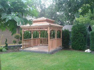 Prieel in japanse tuin met dubbeldak systeem prieeltjes pinterest met - Prieel tuin ...