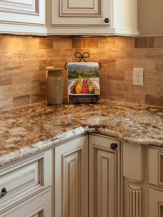 Traditional Tuscan Kitchen Makeover Corner Nook Travertine And Countertops