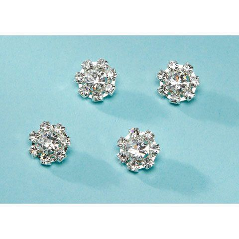 Bulk Buy: Darice DIY Crafts David Tutera Rhinestone Hair Snaps Flower Silver 1/2 inch (3-Pack) DT30571 -- Click image to review more details.
