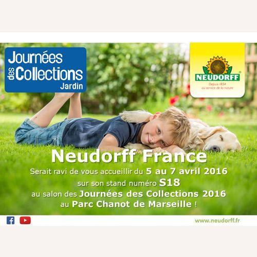 NEUDORFF FRANCE vous donne rendez-vous aux JDC-Journées Des Collections Jardin 2016, STAND S18, les 5, 6, 7 avril 2016, Parc Chanot, à Marseille