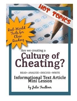 All Worksheets informational text worksheets high school : Nonfiction Close Reading Lesson on Hot Topics: A Culture of ...