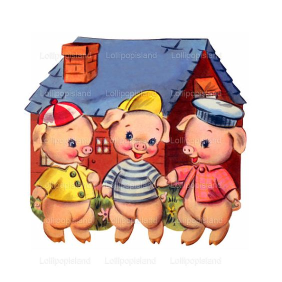 INSTANT DOWNLOAD Three Little Pigs Digital By