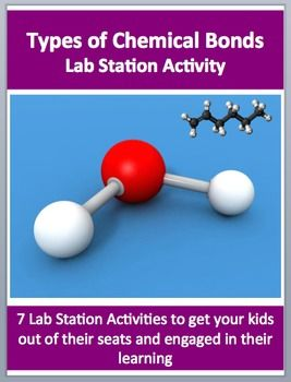 This fully editable Lab Station on Types of Bonds and Intermolecular Forces is meant to get your students out of their seats and engaged in the content. Each station not only offers a unique opportunity to test your students knowledge (offer an opinion, answer questions based on a video or reading, draw, etc.), but also provides a fantastic learning opportunity where your kids are learning through assessment. Each station comes with ...