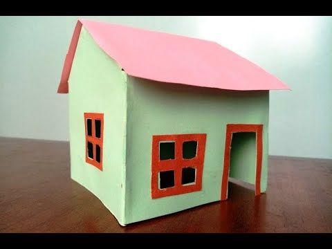 أعمال يدوية للأطفال صنع منزل بالورق المقوى Crafts Paper Crafts Bird House