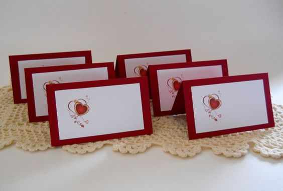 Escort Cards Floating Heart Place Cards Seating by 2HeartsDesire 2Heartsdesire,  Made By Us. Please Share