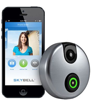 SkyBell is a smart video doorbell that allows you to see, hear and speak to the visitor at your door whether you're at home, at work or on the go.