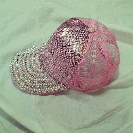 Pink Glitter Trucker Hat