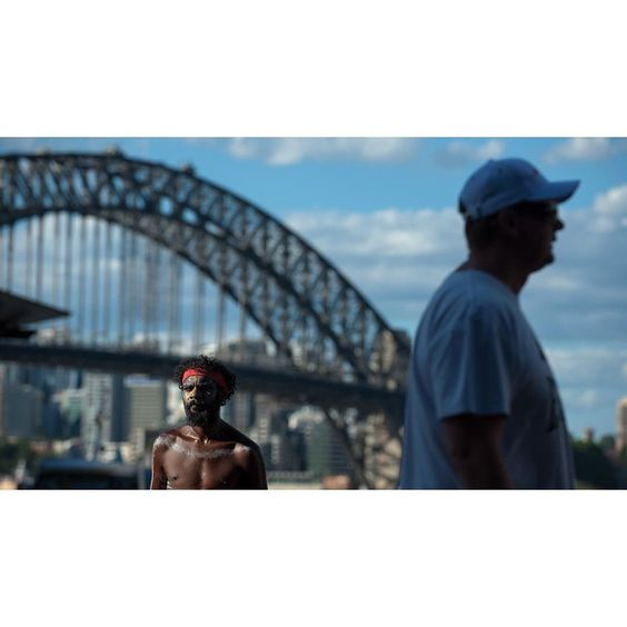 Australia in one #sydney #sydneyharbour #australia #sydneyharbourbridge #aborigine #streetsofsydney #documentaryphotography #streetphotography by neilpalmerphoto http://ift.tt/1NRMbNv