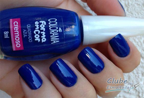 Quadrado Azul Colorama 2 Clube das Esmaltadas