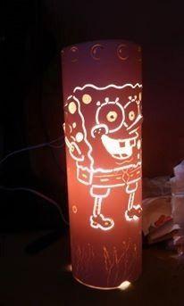 luminária artesanal de pvc