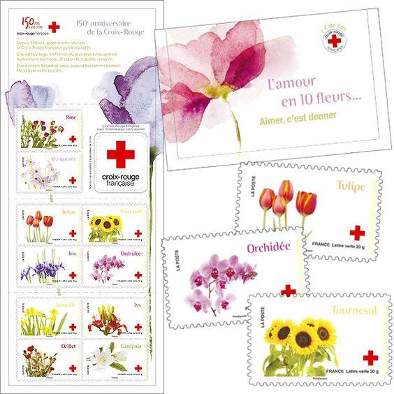 France - Red Cross - Love in 10 flowers
