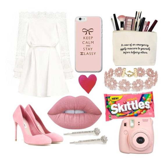 """""""..."""" by mimi1324 on Polyvore featuring Miu Miu, BaubleBar, Lime Crime, Fujifilm and Kim Rogers"""