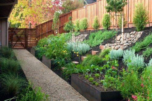 Amenagement Jardin En Pente Douce Comment Profiter Du Declin Du Terrain Avec Images Amenagement Jardin En Pente