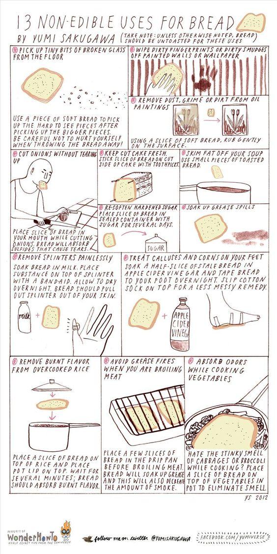 13 Non-Edible uses for bread