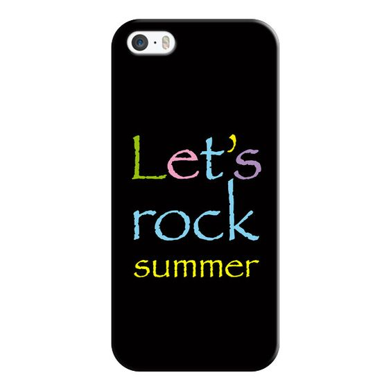 iPhone 6 Plus/6/5/5s/5c Case - Let's rock summer ($35) ❤ liked on Polyvore featuring accessories, tech accessories, iphone case, iphone cover case, apple iphone cases and slim iphone case