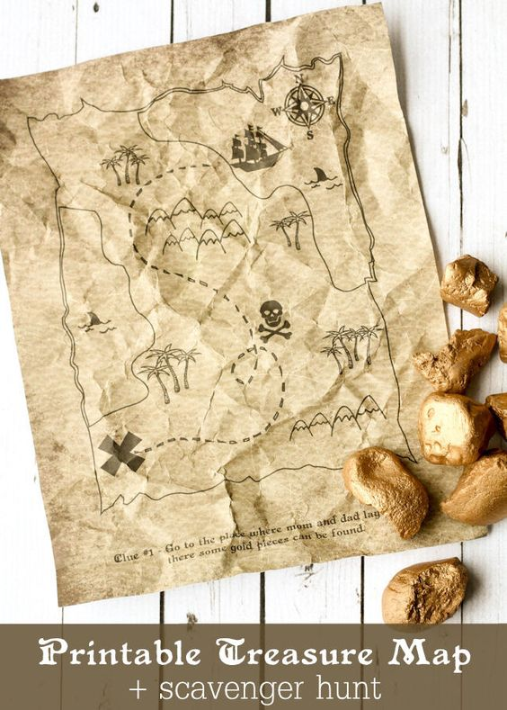 Printable Treasure Map Kids Activity Free Coloring Pages