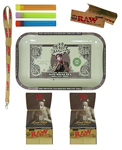 Bundle - 8 Items - Wiz Khalifa Limited Edition RAW Rolling Tray with 1 1/4 Papers and More Beamer®, Raw http://www.amazon.com/dp/B00QKR5IJK/ref=cm_sw_r_pi_dp_NX2-ub13A73WH