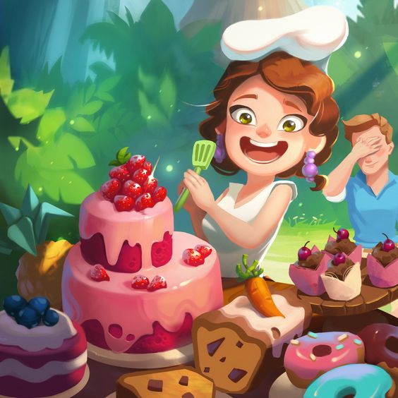 Cooking competition on the island on Behance