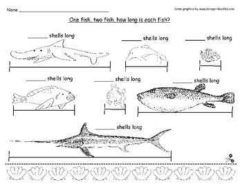 Fish Measuring- Dr. Seuss Enrichment for One Fish, Two Fis
