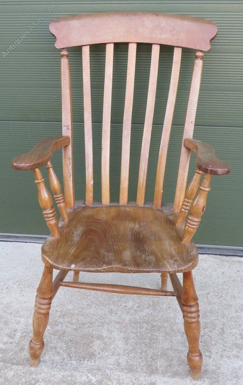 Victorian Beech Elm Farmhouse Carver Armchair Armchair Victorian Antiques