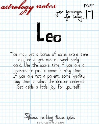 Want tomorrow's Leo horoscope?   Visit iFate.com today!