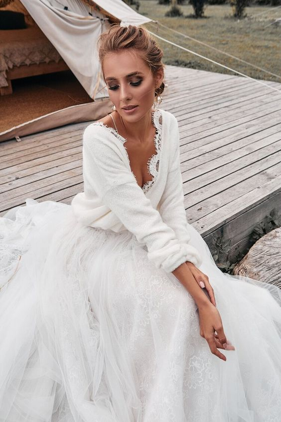 Knitted Wedding Cardigan — Liza Ray New York