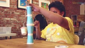 Build a crane that uses simple machines and mechanical advantage to move. It must be able to lift a cup off the table and move it somewhere else. Recommended by Andrea Beaty, author of Rosie Revere Engineer. #STEM