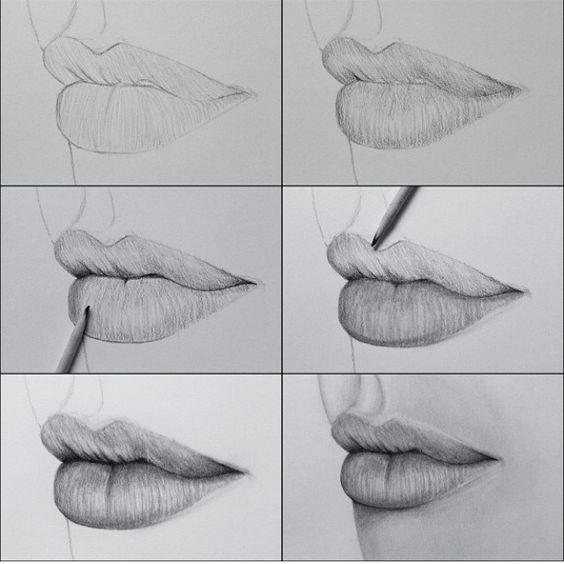 how to make a draw lips