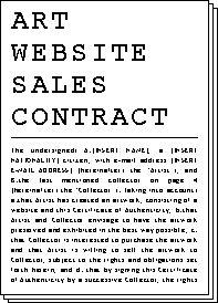 Art website sales contract de Rafaël Rozendaal