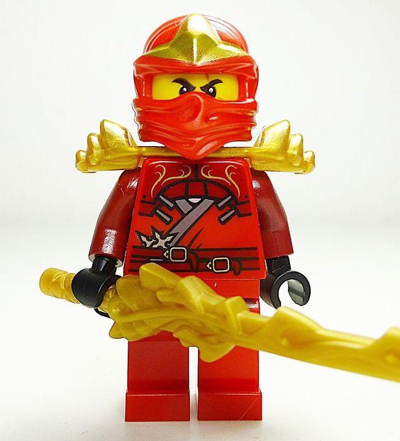 Coloriage ninjago jay coloriage pictures to pin on pinterest - Lego Ninjago Kai Zx Avec Armor And Dragon Sword Lego