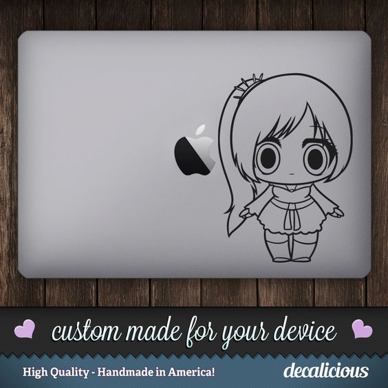 Anime Doll Vinyl Decal - Childrens Doll Vinyl Decal, Doll Macbook Sticker, Doll Sticker, Doll Decor, American Made by decaliciouscom on Etsy