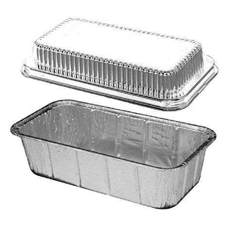 2 Lb Aluminum Foil Loaf Bread Pan Tin W Dome Lid Heavy Duty 316