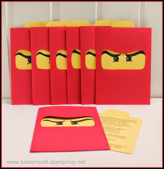 Invitations Card, Birthday, Ninjago, Party, Einladungskarten, Lego