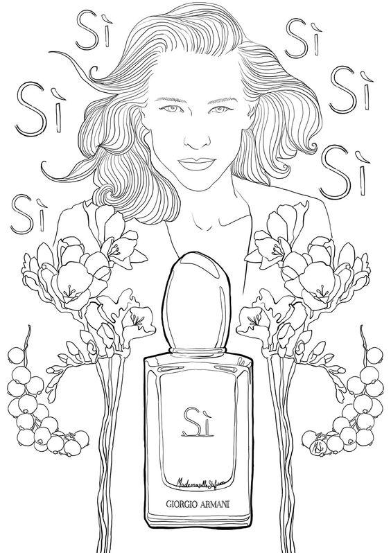 Coloriage pour adulte parfum si de giorgio armani art paris and blog - Coloriage gratuit pour adulte ...