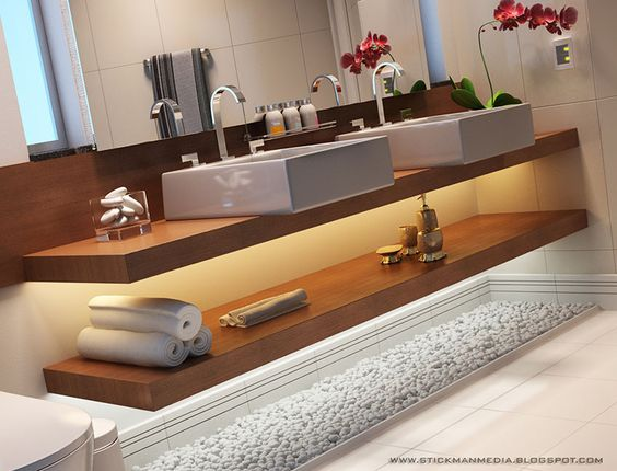 Banheiros Decorados Com Duas Cubas : O cat?logo mundial de ideias