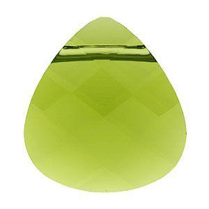 #inspirationbloom 6012 15.4mm Olivine Swarovski Elements Crystal Briolette Pendant | Fusion Beads
