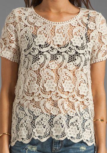 Crochet lace tops, Crochet lace and Lace tops on Pinterest
