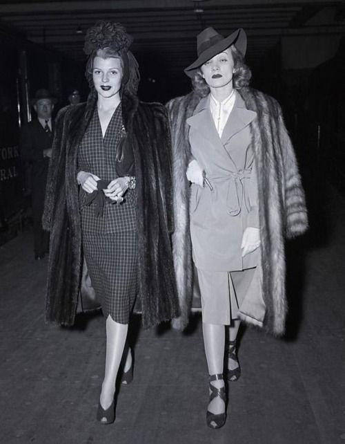 Rita Hayworth and Marlene Dietrich